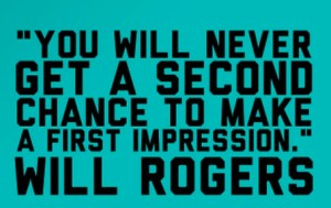 first impression-Quote