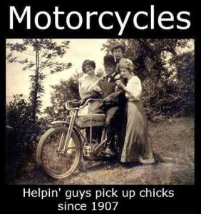 motorcycle and chicks