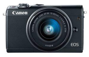Kamera Canon EOS M100 (Depan), Image Credit: Canon
