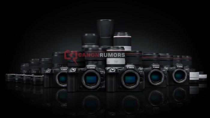 Canon EOS R6 dan R5 beserta jajaran lensa RF