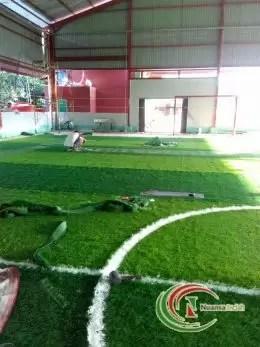 proses pembuatan Lapangan sintetis futsal