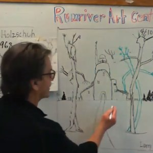 Richard Holzschuh Haunted House Drawing Project