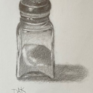 Salt Shaker Pencil Drawing Lesson with Deborah Ann