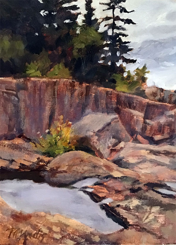 Artist Point, oil, 9x12
