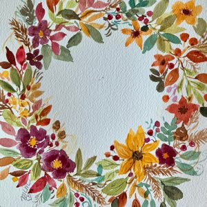 Holiday Floral Wreath Watercolor Project with MaryLeah