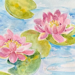 Water Lilly Watercolor Project