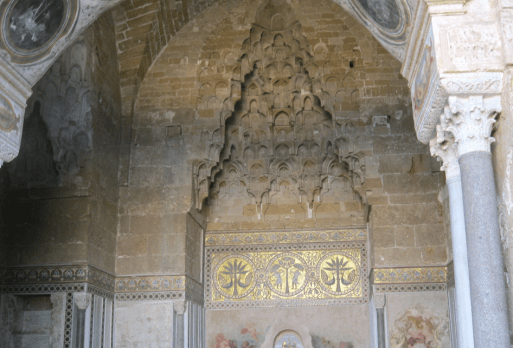 The Zisa Palace in Palermo with Islamic-influenced architecture