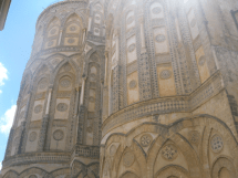 Islamic architectural designs incorporated into the back of the Cathedral