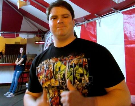 Dave Ballatori, RFH Class of 2006, helps out at the Fair Haven Firemen's Fair. Photo/Elaine Van Develde