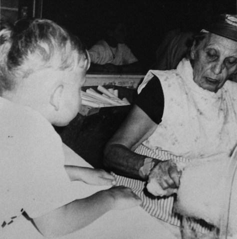 Millie Felsmann spins and serves cotton candy at the Fair Haven Firemen's Fair's Out Back circa 1993.  Photo/Elaine Van Develde
