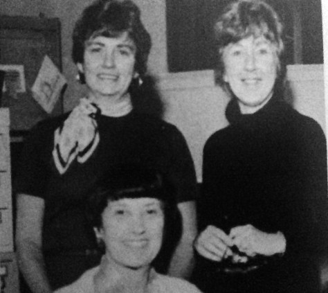 The ladies of the RFH library. Photo/screenshot of the RFH yearbook