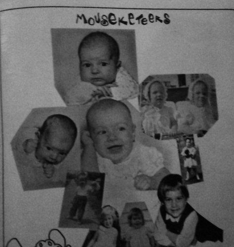 Mousekteers of the 1974 Forrestdale yearbook. Photo/Forrestdale yearbook