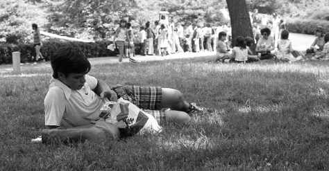 Time for a spring lunch break with RFH's John Brinkerhoff circa 1970s Photo/George Day