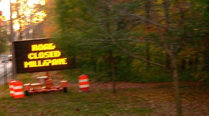 Detour: Ridge Road Paving Ahead