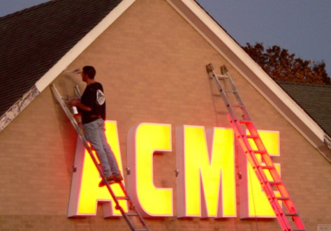 Finishing touches were put on the new Acme in Little Silver, which replaced the A&P Photo/Elaine Van Develde
