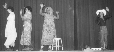 RFH Freshmen Follies '74 and the Diana Ross and The Supremes act. Photo/George Day