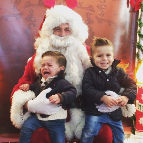 The Harvey boys' visit to Santa at the Fair Haven Firehouse 2015 Photo/Paula Harvey