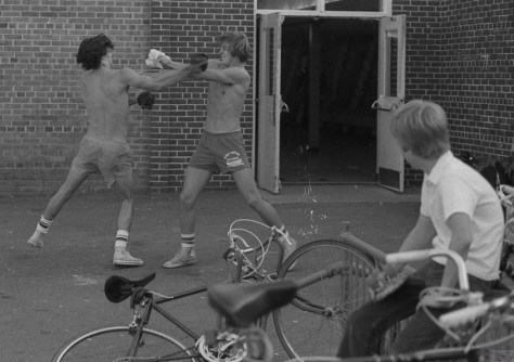 A day of spring boxing in the parking lot at RFH in the 1970s Photo/George Day