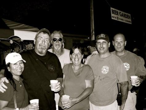 Rumson Fire Department folks at the Fair Haven Firemen's Fair 2015 Photo/Elaine Van Develde