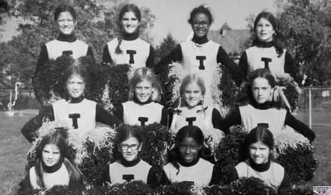 Fair Haven Tigers cheerleaders circa 1973 or '74 Photo/courtesy of Karen Memmot Hooten