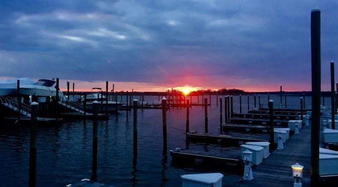 Scene Around: Fiery Sea Bright Sunset