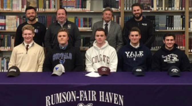 RFH Football Champs Sign College Letters of Intent