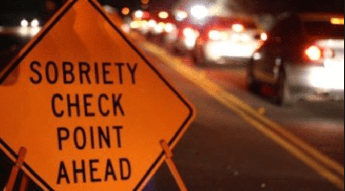 DWI Checkpoint Set for Friday