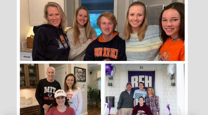 RFH Student-Athletes Sign Letters of Intent In Socially Distant Way