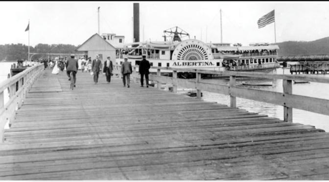 Retro Rumson Albertina Steam Ship Dock & Stroll