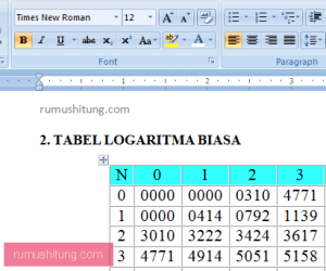 download tabel logaritma word .docx