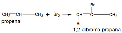 reaksi adisi pada propena