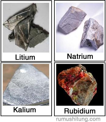 sifat alkali unsur natrium kalium rubidium sesium