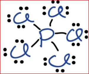 struktur lewis PCl5