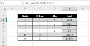 Rumus Fungsi Excel Lookup and Reference