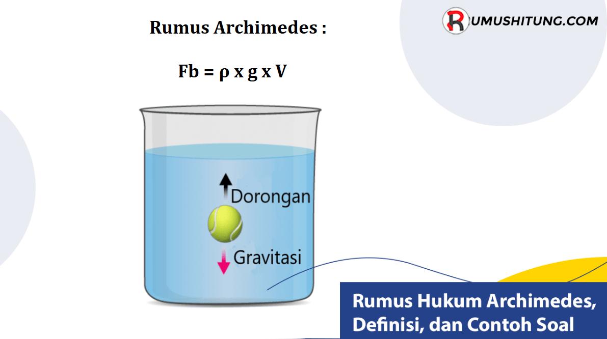 Rumus Hukum Archimedes dan Contoh Soal
