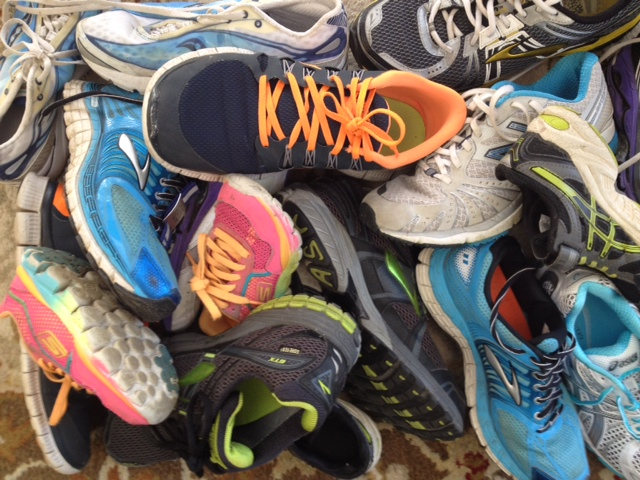 Old Running Shoes and Other Gear