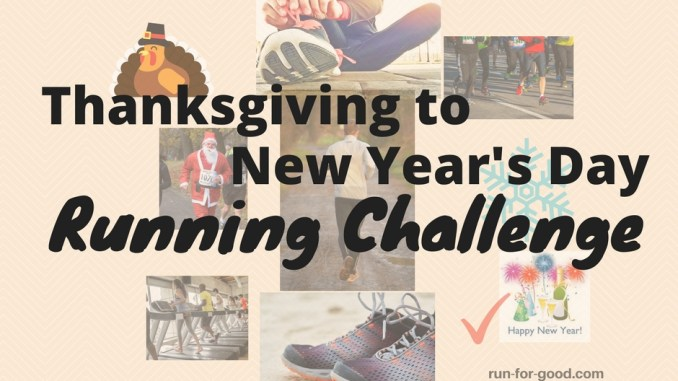 thanksgiving to new year's running challenge
