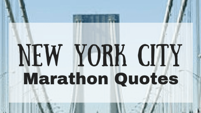 New York City Marathon Quotes Run For Good
