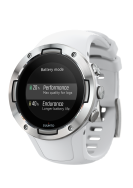 SS050300000 - SUUNTO 5 G1 WHITE - Perspective View_battery mode