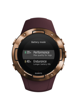SS050301000 - SUUNTO 5 G1 BURGUNDY COPPER - Front View_battery mode