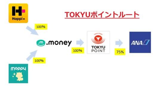 【祝TOKYUポイントルート開通】ハピタス・モッピー→ANAマイル交換が楽に!