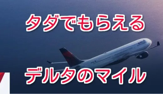 デルタ「ニッポン500」国内線に乗って申請→誰でもデルタ航空500マイルがもらえる!~2020年3月まで継続中