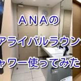 【ANA】成田空港「アライバルラウンジ」のシャワー使ってみた!
