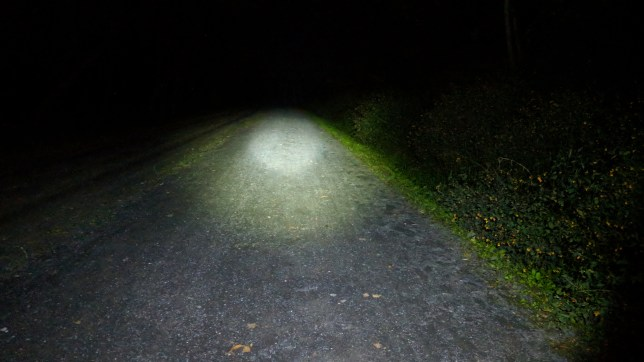 50+ feet of visible trail after dark!