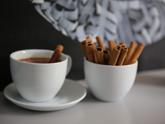 chocolate sticks on two white ceramic cups 1717771 2