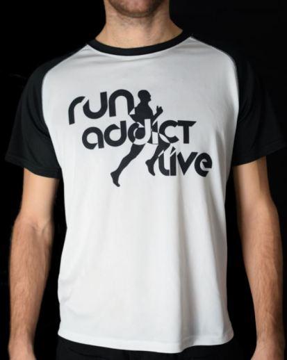 t-shirt run addict live