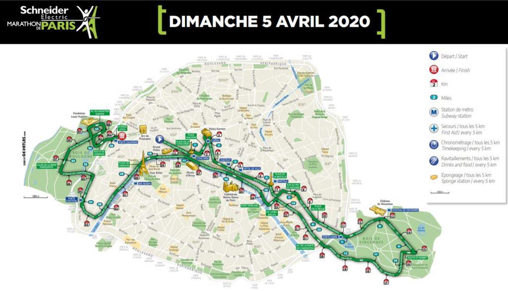 parcours marathon de paris