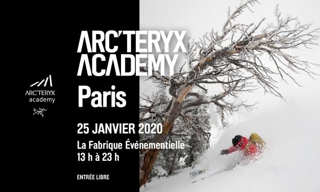 L'Arc'Teryx Academy prend ses quartiers à Paris le 25 janvier 2020.