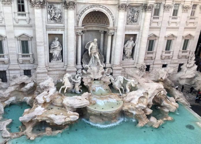 fontaine de trevi marathon rome
