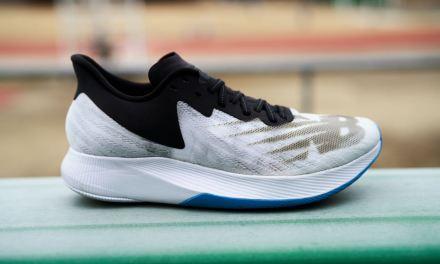 Présentation Test FuelCell TC: les chaussures dotées d'une plaque carbone de chez New Balance.